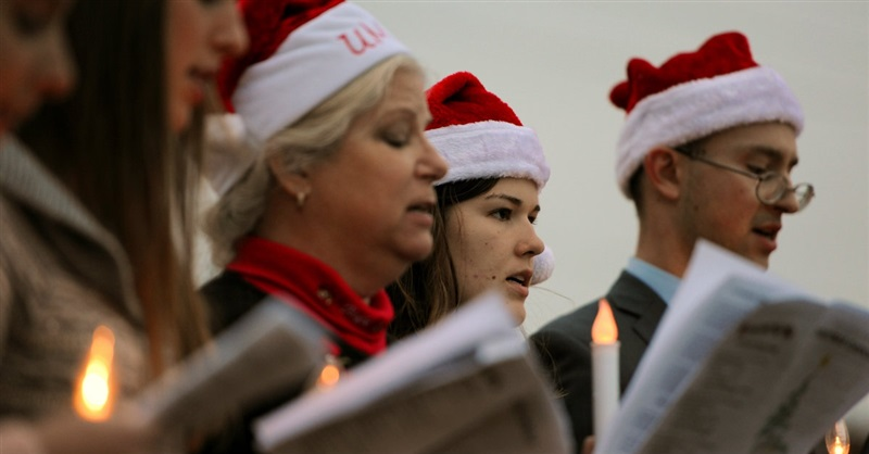 Christmas Carolers Gather outside Abortion Clinics